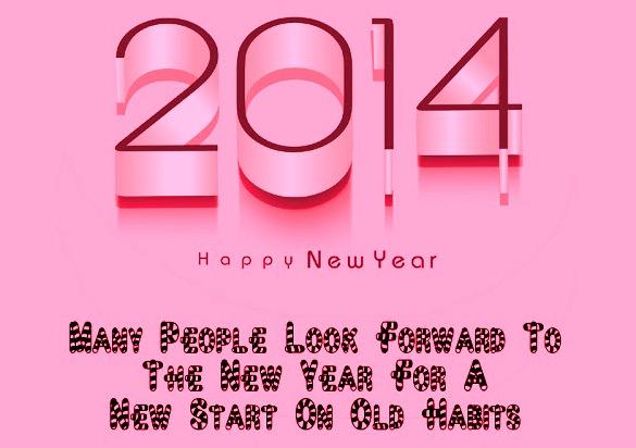 English new year greetings