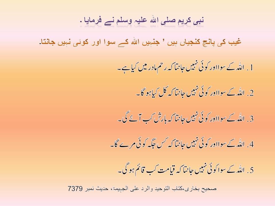 Jumma Mubarak SMS Urdu Hadees