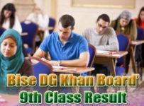 DG Khan Board Class 9th Result 2018 bisedgkhan.edu.pk
