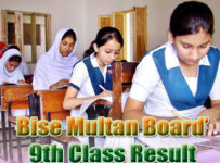 Full gazzete of BISE Multan Board 9th 10th Class Result 2018