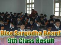 Dwonload BISE Sargodha Board Class 9th Result 2015