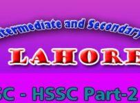 BISE Lahore HSSC Part 2 Result 2015 Inter FA/ FSC & Icom