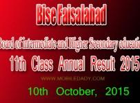 Bise Faisalabad FA-FSC Annual 11th Class result 2015