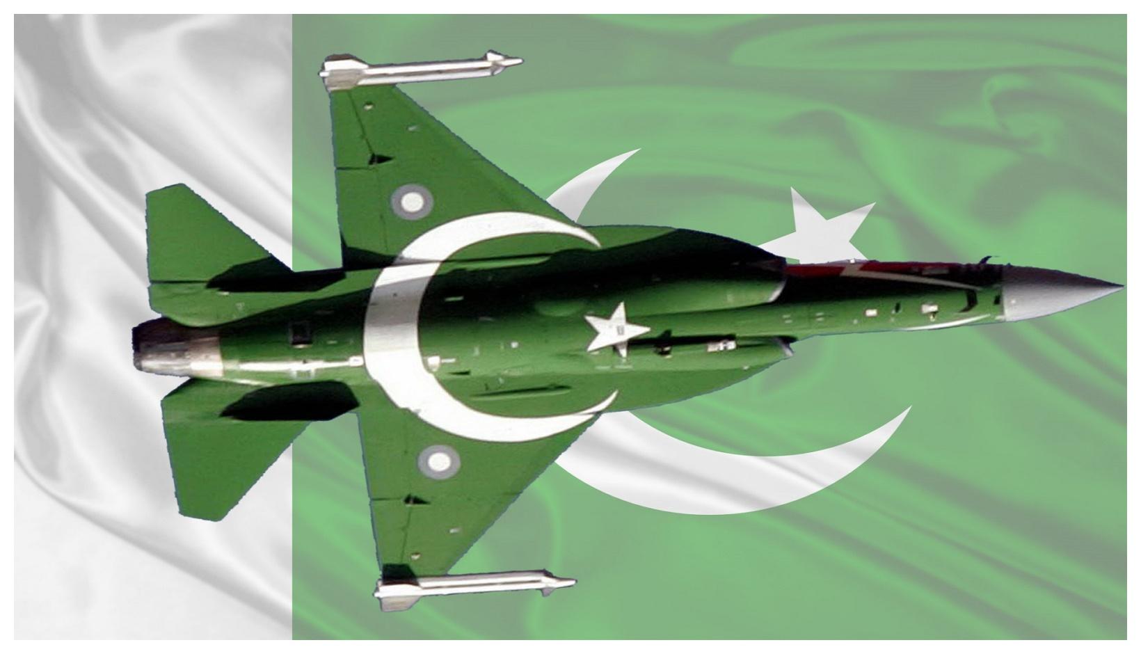 pakistan flag with Army aeroplane