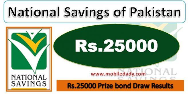 Rs. 25000 Prize bond Draw List