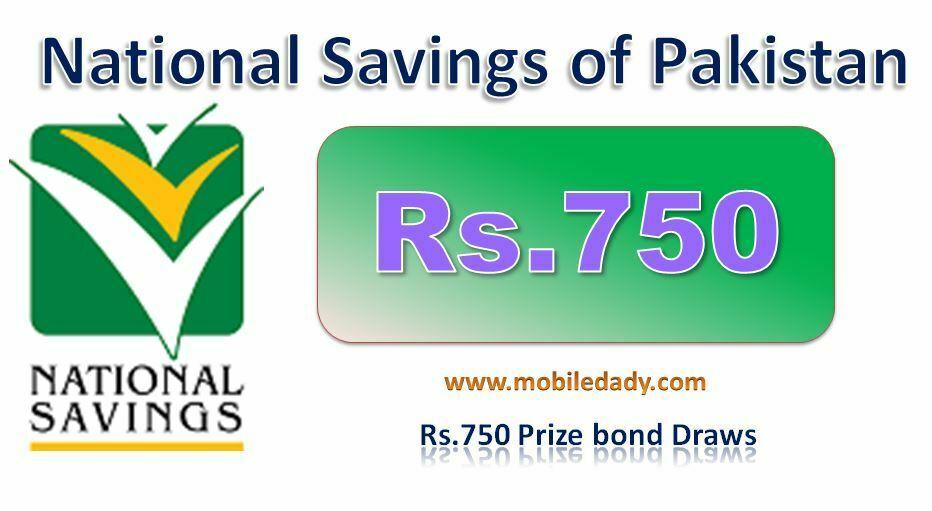 Rs. 750 prize bond Draw