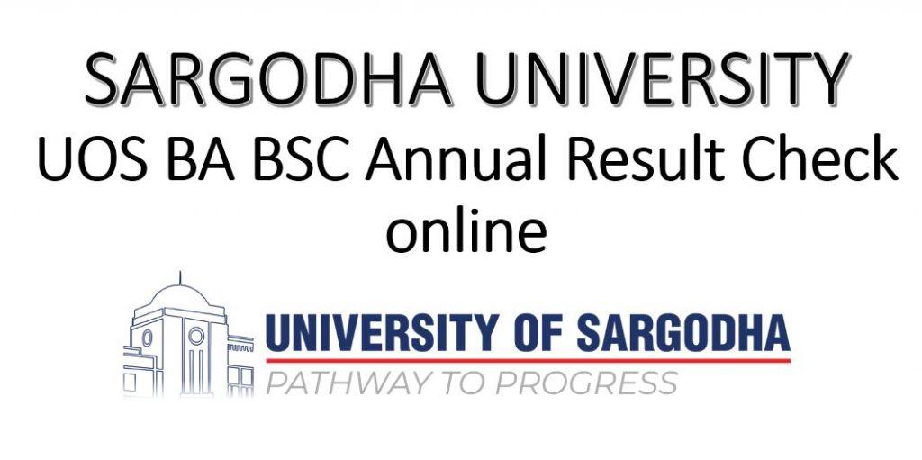 Sargodha University UOS BA BSc Result 2021